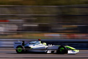 Jenson Button goes fast