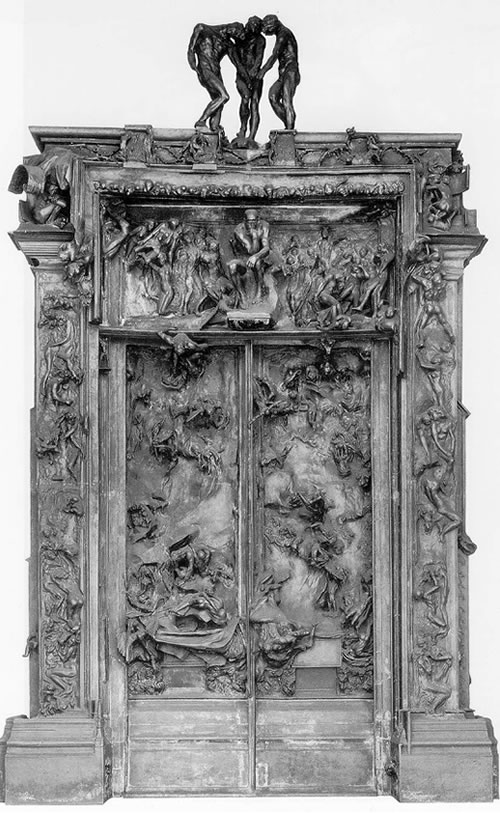 Above is Rodin's Gates of Hell,